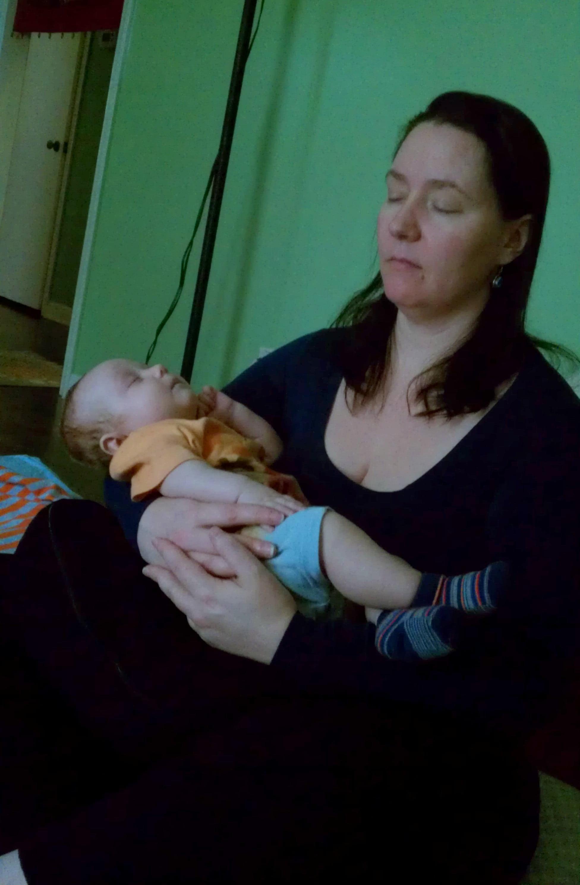 A Little Peace of Joy Mom baby meditate